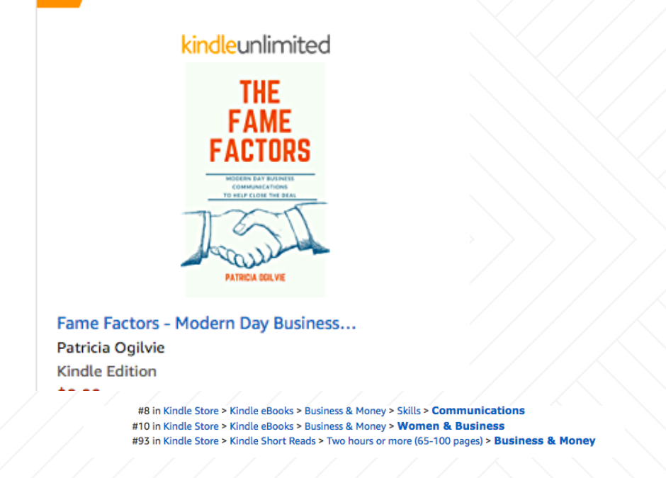 Book Launch nets Top 10 on Amazon