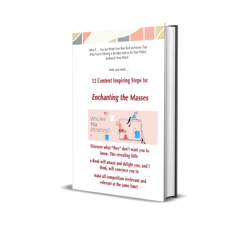 This is an annoying popup, but sign up anyway    How to Grow Your Audience and Your Book Sales   Enchanting the Masses Ebook—It's Free Today! ==VV ADD YOUR EMAIL HERE ==VV